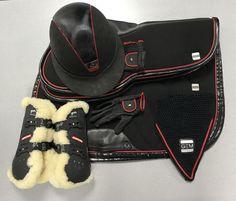 En rouge et noir ! Ensemble parfaitement chic disponible en personnalisation 🔴⚫️ Cavaliers, Styles, Horses, Shopping, Boots, Winter, Fashion, Budget, Moda