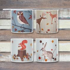 MAGPIE - FOREST FRIENDS - SET OF 4 EGG CUPS