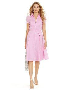 Cotton Voile Shirtdress - Polo Ralph Lauren Short Dresses - RalphLauren.com