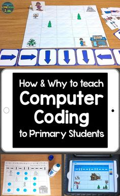 How & Why to Teach Computer Coding to Primary Students - hands-on, print, & digital coding activities for kids codingforkids hourofcode codingforbeginners coding computercoding codingactivitiesforkids 276056652144514387 Computer Activities For Kids, Computer Coding For Kids, Coding Classes For Kids, Computer Lessons, Computer Class, Programming For Kids, Computer Science, Kids Coding, Learn Coding