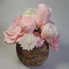 Pink aroma bouquet Bouquet, Vase, Desserts, Pink, Food, Home Decor, Homemade Home Decor, Meal, Bouquets