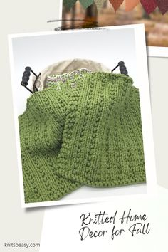 Knit So Easy quick & easy patterns = effortlessly cozy knitting. #KnittingPatterns #FallCrafts #Handknits Knitted Hats Kids, Knitted Baby Blankets, Kids Hats, Banner Elk, Fall Knitting, Fall Home Decor, Autumn Home, Fall Crafts, Knit Crochet