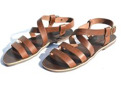 ANANIAS handmade mens leather sandal in brown, black or natural. All sizes will be made to order, please allow 2-3 weeks. Also in womens sizes