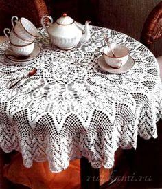 mantel sobre la mesa