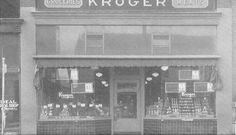 Picture of the Kroger Store on Main Street before it was made a portion of our museum bldg., circa 1930's. Ideal Shoe Shop to the left (now Sam's Hot Dogs).