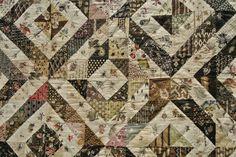 Detail of Dutch quilt overnaald: Dagje Veldhoven!