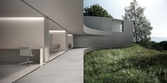 Curving blocks overlap to create the sinuous form of this conceptual house, designed by Fran Silvestre Arquitectos to frame seven tiered gardens in Spain Commercial Architecture, Art And Architecture, Tiered Garden, South Of Spain, Pool Houses, Home And Garden, Exterior, House Design, Valencia