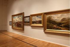 museumuesum: Leo Fitzmaurice Horizon (Leeds), 2011 oil paintings and picture frames, installation dimensions variable Horizon (Leeds) is made up from a selection of 19th and early 20th century landscape paintings chosen from Leeds Art Gallery's collection. Fitzmaurice has installed the paintings to create a single painted horizon, forming a graphic line cutting across the ornate frames.