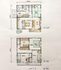 『32坪の間取り』 ・ LDK+和室4.5帖の間取りです。 ・ 32坪総... House Floor Plans, Google Images, Flooring, Photo And Video, How To Plan, The Originals, Instagram, Home, Design
