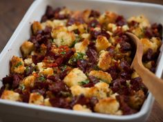 Chorizo and Cornbread Stuffing is a new take on a Thanksgiving classic.