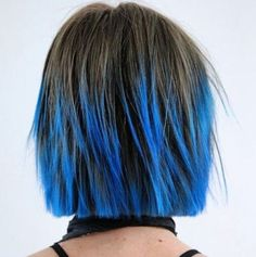 Image result for short blue ombre hair