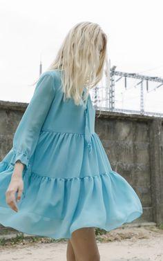 NARCISS S/S17 Lolita Dress www.narcissfashion.com #NARCISSfashion #spring #summer #trendalert  #ootd #styleinspiration #fashioninspo #blue #ruffle