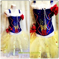Nostalgia   Snow White-Inspired Rave Outfit  Size XS-M  by ElectronicCouture, $85.00
