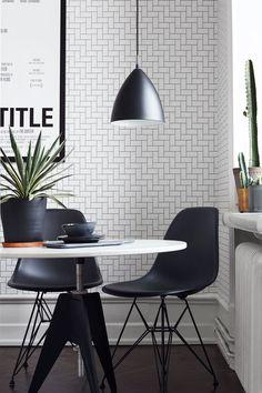 Brick 6070 - Eco Black & White - Eco Wallpaper