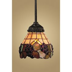 Westmore Lighting Mix-n-Match 3-in W Tiffany Bronze Tiffany-Style Pendant Light with Tiffany-Style Glass Shade