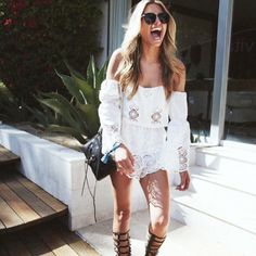 hopeandmay:  The @stone_cold_fox  'Aden Romper' in White is the perfect weekend essential $420.. Also available in Black! Shop Online & Instore now.. T x #stonecoldfox (at www.hopeandmay.com)