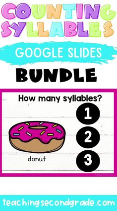 Looking for engaging and fun ways to teach your 1st, 2nd, or 3rd grade students to count syllables from home while distance learning? This resource is perfect for you! These syllable counting activities are made for Google Slides in Google Classroom. This bundle includes 6 full resources so you have everything you need for this unit. #countingsyllables #2ndgradeactivities #googleslides Teaching Second Grade, Second Grade Math, Grade 1, 2nd Grade Activities, Counting Activities, How To Get Credit, Daily Math, Syllable, Seesaw