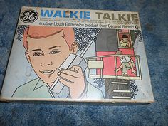 Vintage NIB Walkie Talkie GE General Electric Youth 1960's Toy - in the age when just about every phone (if you had a phone) was a party-line & you were getting older so tin cans with string seemed silly, Walkie Talkies were the rage!