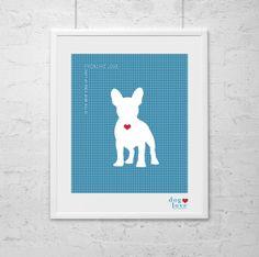 French Bulldog   Frenchie  Wall Art  Dog Print  by DogLoveShoppe, $17.50