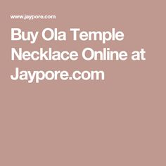 Buy Ola Temple Necklace Online at Jaypore.com