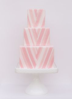 { cocolilymagazine.com hearts this } A gorgeous pink wedding cake made by @Melody Gee Gee Gee Gee Gee Gee Brandon