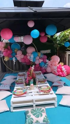 Mexican Party Decorations, Sweet 16 Decorations, Girl Baby Shower Decorations, Balloon Decorations Party, Balloon Garland, Birthday Party Decorations, Balloons, Balloon Wall, Backyard Birthday Parties