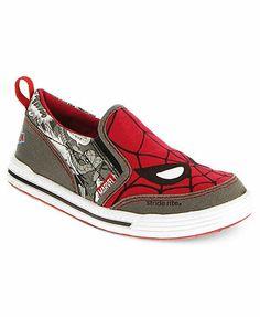 BOYS FASHION - BOYS SHOES - BOYS STYLE TRENDS - Stride Rite Kids Shoes, Boys Spider-Man Slip-Ons