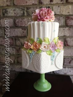 Rose garden  - This cake reminds me of an English Garden.