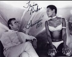 This was controversial and not allowed to air in some countries at the time and she was cut out of the scenes or replaced. 1st African American Bond girl,  Trina parks.