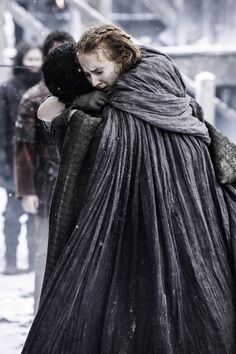 Sansa and Jon Snow finally reunite at Castle Black.