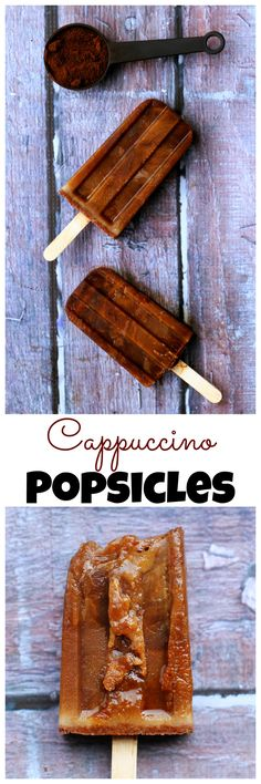 Get your caffeine fix in frozen form with these cappuccino popsicles!