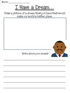 "You will currently find a Free Martin Luther King Jr. Day Worksheet Packet  on Teachers Pay Teachers    Site Product Description:  ""Martin Luthe"