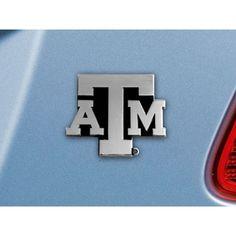 Texas A&M Aggies Chrome Car Emblem (2.3in x 3.7in) #TexasA&MAggies