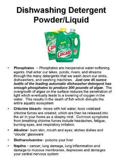 Here's what is in your dishwashing detergent if you aren't using #Melaleuca or any natural alternative! Contact me for info! Amanda@TotalWellness4Life.com