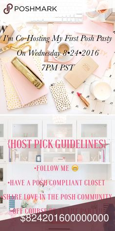 Party Time!! Hi guys I'm hosting my first Posh Party. Please leave a comment below for Host Pick consideration. Be sure to follow the guidelines. Sharing Is caring  show your fellow Poshers some love. Theme TBD Other