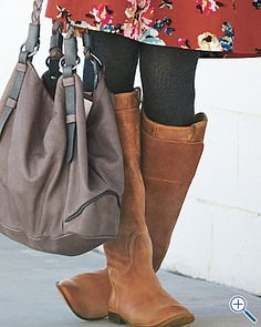 Frye paige riding boots. Hmm, perhaps these will be on me in the next month or so? :)
