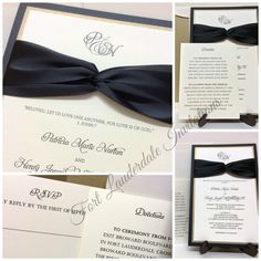 Elegant Modern Black and Gold Wedding Invitation Suite by Fort Lauderdale Invitations - Visit our website for ordering information or search for us on Etsy @ Milgrim Designs! Fort Lauderdale * Hollywood * Miami * Palm Beaches * We Ship across the USA!