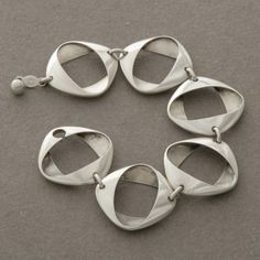 Gallery 925 (antique/vintage) - Georg Jensen Bracelet by Henning Koppel, no. 190, Handmade Sterling Silver