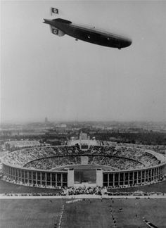 1936, the Hindenberg flies over Berlin's opening ceremonies. ( AP File photo / July 25, 2012 ). More vintage Olympic photos: http://www.redeyechicago.com/sports/ct-red-vintage-olympics-photo-gallery,0,7125527.photogallery