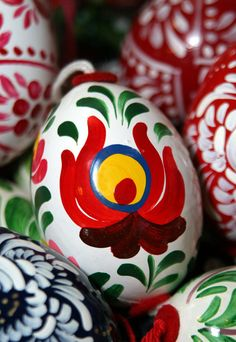 Eggs of Easter, Bogacs, Hungary - beautiful color and design from vibrant culture