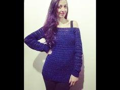 Blusa em Croche fio Fashion para todas estações. - YouTube