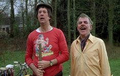 Jack Douglas and Windsor Davies in Carry On Behind. 1975