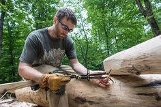 Grindbygg Timber Framing: Day Seven | Trent Using Bubble Scribe