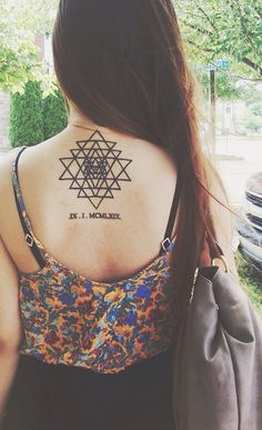 Done by Duong.  Way of Ink, Springfield VA   Sri Yantra, and the birthday of my loving mother
