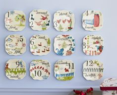 Gotta have these for Christmas this year! Rosanna 12 days of Christmas Appetizer Plates Set of 12 Twelve Days Of Christmas, Christmas Holidays, Christmas Decorations, Merry Christmas, Christmas Ideas, Holiday Ideas, Happy Holidays, Christmas Crafts, Christmas Countdown