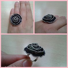 Anillos con cápsulas Nespresso put CZ in center Recycled Jewelry, Recycled Crafts, Diy Jewelry, Diy And Crafts, Jewelry Making, Coffee Cup Design, Diy Rings, Bijoux Diy, Beads And Wire