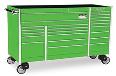 Roll Cab, Triple Bank, 22 Drawers, Extreme Green
