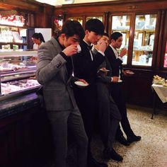 Adonisproject@instagram update with Byeon Wooseok, Lee Yobaek, Park Hyeongseop & Kim Young in Florence, Italy - 150614