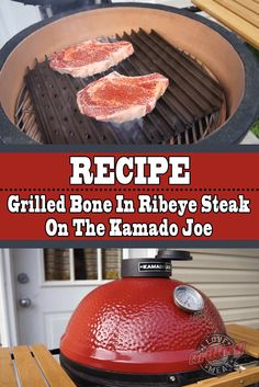 A grilled bone in ribeye steak recipe that'll have you licking your fingers while you watch this. Plus some beginner tips for grilling on a Kamado Joe grill/smoker. Easy Pork Butt Recipe, Easy Steak Recipes, Barbecue Recipes, Grilling Recipes, Tailgating Recipes, Smoker Recipes, Barbecue Sauce, Egg Recipes, Kamado Grill