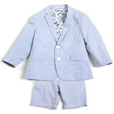 Who wouldn't want to have a little boy after seeing this Appaman seersucker suit ($141)?